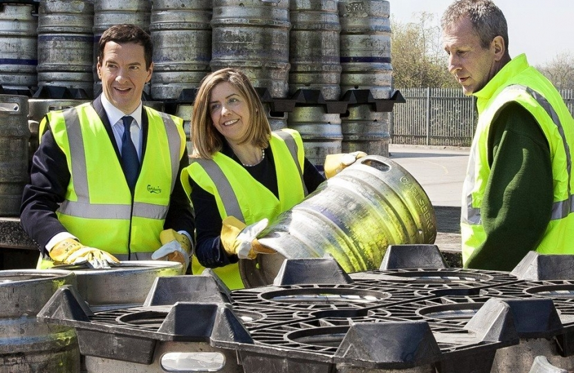Andrea with George Osborne