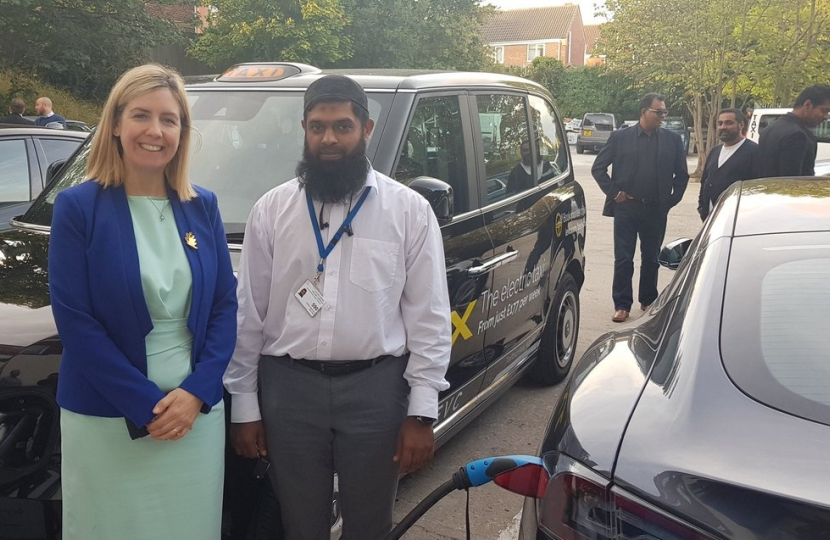 First driver of electric Taxi in Leeds