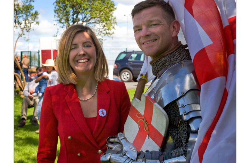 With 'St George' at St George's weekend in Morley