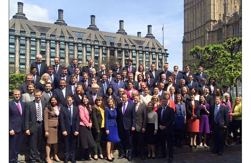 New MP photograph with PM at Westminster