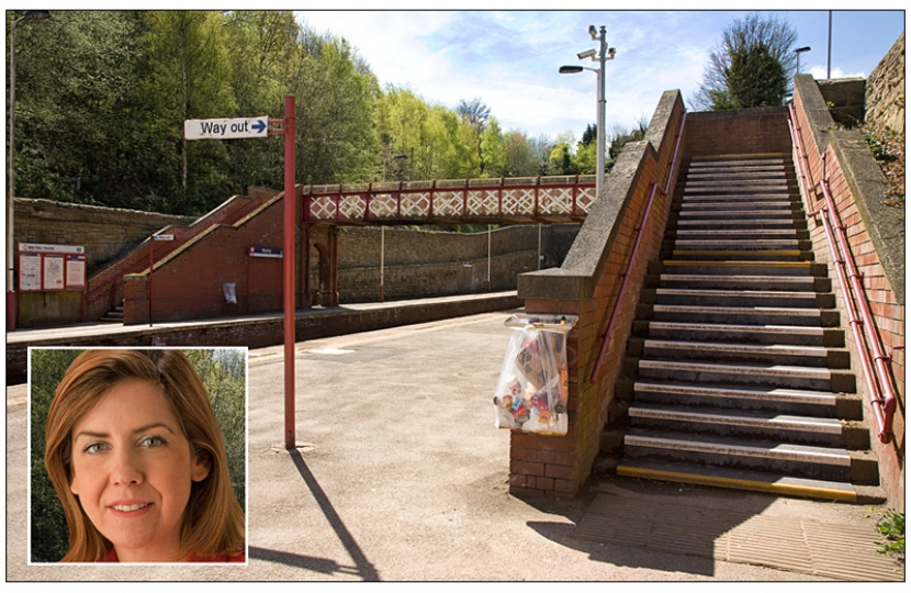 "Andrea Jenkyns wants, ""ticket machine, disabled access and better car parking""."