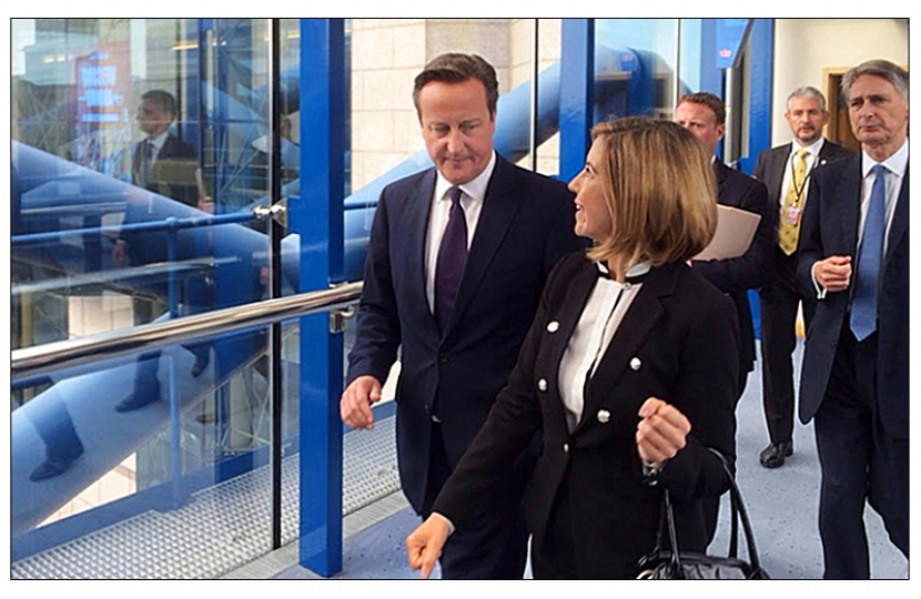 Andrea with the Prime Minister David Cameron