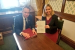 Andrea Jenkyns with Matt Hancock (Archive)